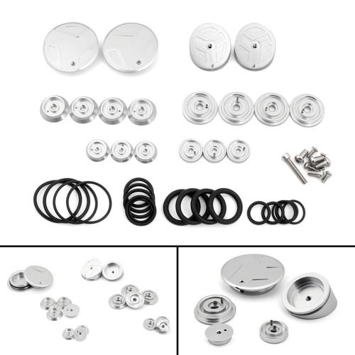 Frame Hole Caps Decor Cover 1 Set Aluminum For BMW R 1200 GS ADV LC (2013-2019) Silver