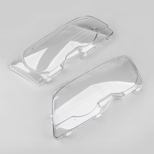 Pair Headlight Lens Replacement Covers For BMW E46 2Doors (1998-2001)