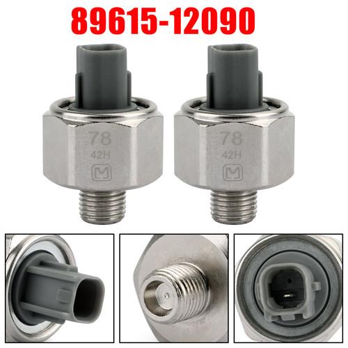 2PCs Knock Sensor 89615-12090 For Lexus ES300 GS300 IS300 SC300 RX300 RX330, Silver Denso