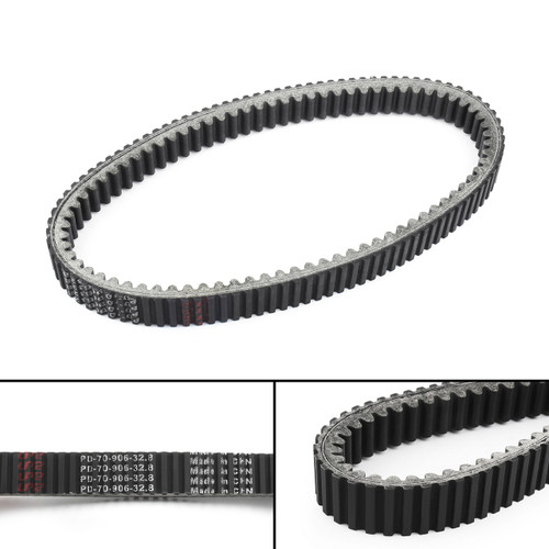 Drive Belt 27601-11H00 For Suzuki LTA450 King Quad 450 AXi Limited Edition, LTA500 King Quad 500 AXi Power Steering, Black