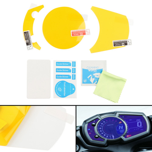 Cluster Scratch Protection Film Screen Protector For Kawasaki NINJA 650 1000, Versys-X 300 (17) Clear