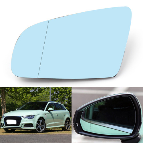 Left Driver Side Rearview Mirror Glass For Audi A4 B6 B7 A6 C6 05-08