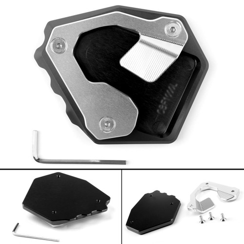 Side Pad Kickstand Stand Extension Plate For Honda CRF1000L Africa Twin 16-17 Black