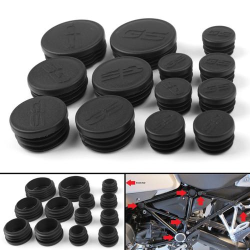 13PCS Frame Hole Cover Caps Plugs Decor Set For BMW R1200GS/LS/ADV 13-16 Black