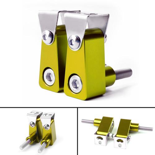 2Pcs Universal Lower Fork Mount Spotlight Holder Lights Bracket For XMAX 125/250/300 Gold