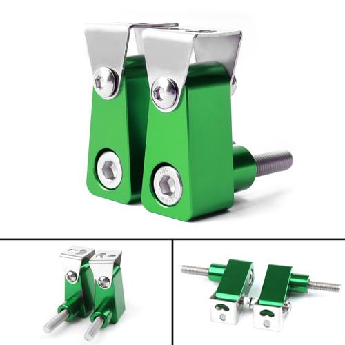 2Pcs Universal Lower Fork Mount Spotlight Holder Lights Bracket For XMAX 125/250/300 Green