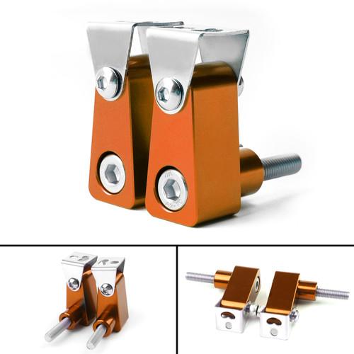 2Pcs Universal Lower Fork Mount Spotlight Holder Lights Bracket For XMAX 125/250/300 Orange