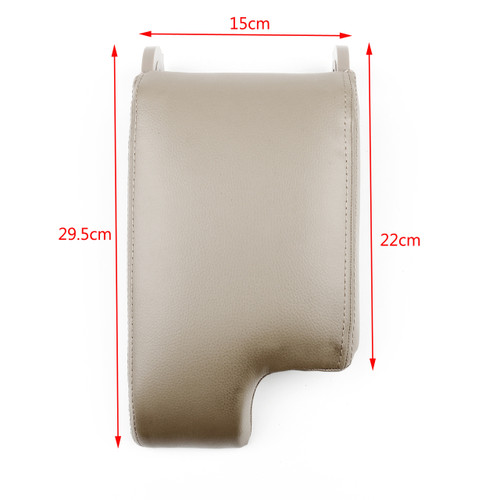 Leatherette Armrest Center Console Lid Cover For BMW E46 3 Series 98-06, Beige