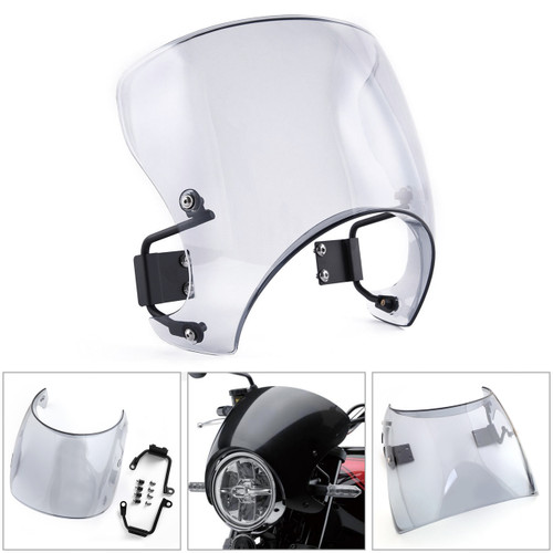 ABS Windscreen Windshield Cafe Racer Wind Protector for Kawasaki Z900RS 2018 Gray