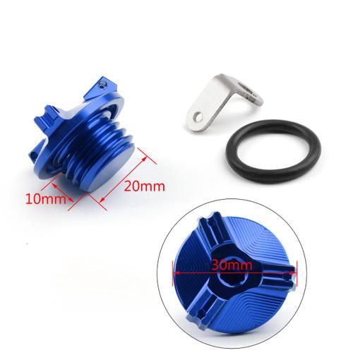 M20 Engine Oil Filler Plug Fill Cap Screw For Suzuki 250SB V-STORM250 V-STORM1000/XT V-STORM650/XT Blue