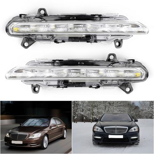 2PCS LED DRL Daytime Running Fog Light For Mercedes Mercedes CL550 CL600 AMG 11-13 S550 S600 S500 07-13