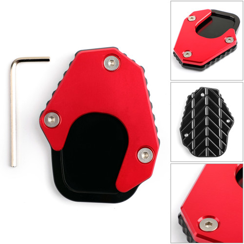 Kickstand sidestand stand extension enlarger pad For HONDA CRF250 RALLY 17-18 red