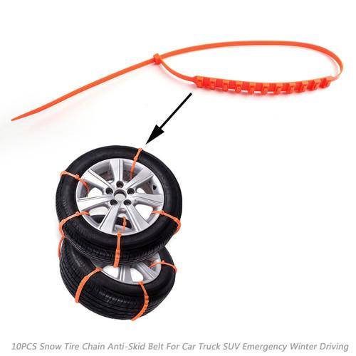 20PCS Snow Tire Chain Anti-Skid Belt For Car Truck SUV Emergency Winter Driving