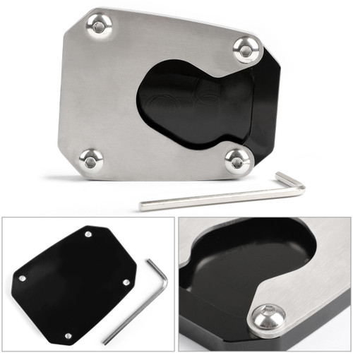 Kickstand sidestand stand extension enlarger pad For HONDA VFR1200X 2012-2017 Black