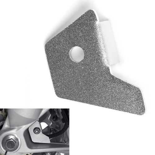 Front ABS Wheel Speed Sensor Guard Cover For BMW R1200GS Water Cooled 2013-2017 Silver
