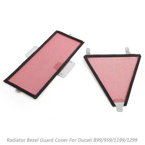 Steel Radiator Guard Cover Oil Cooler For Ducati 899 13-15 959 16-17 1199 12-14 Red