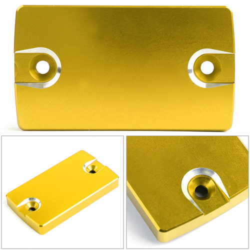 CNC FRONT Brake Fluid Reservoir Cap For Suzuki GSX-S750 16-18 DL650 04-17 VanVan 200 03-13 Gold