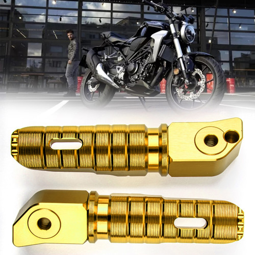 Rear Footrest Footpegs For HONDA CB125R CB250R CB300R CBR250RR CBR600RR Gold