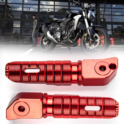 Rear Footrest Footpegs For HONDA CB125R CB250R CB300R CBR250RR CBR600RR Red