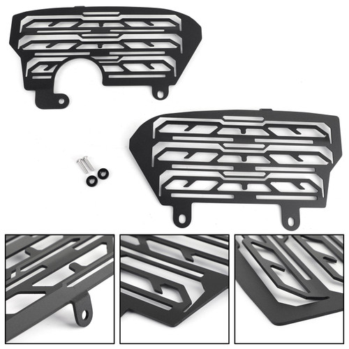 Radiator Guard Grill Cover Aluminum Protector Fits For Honda CRF1000L Africa Twin/ADV Sports 16-19 Black
