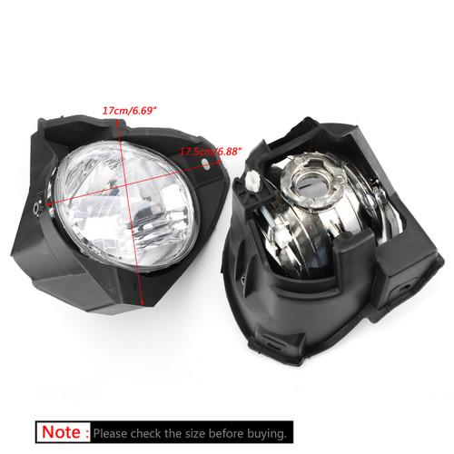 Front Fog Light Pair For Toyota Hilux Vigo Mk6 2008-2011 Black