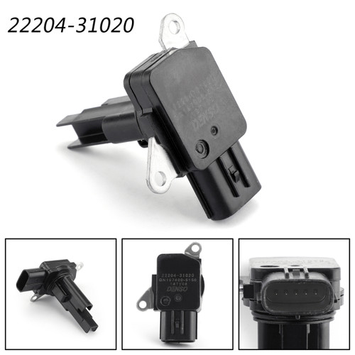 Denso MAF Mass Air Flow Sensor Meter For Toyota 22204-31020 Black