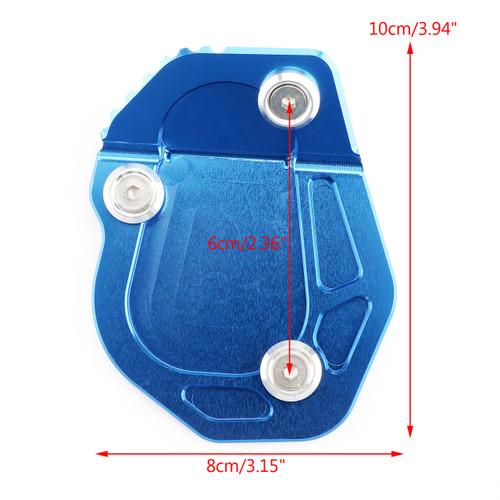 Kickstand Side Stand Enlarger Plate Pad For BMW R NINE T 2017 Blue