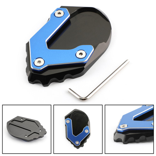 CNC Kickstand Side Stand Plate Extension Pad For BMW R1200GS ADV 2017-2018 Blue