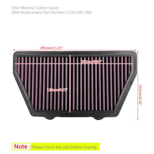 Air Intake Filter Cleaner For Honda CBR 1000 RR Fireblade 2008-2016 Purple