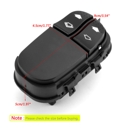 Master DRIVER SIDE Window Switch 6 PIN YS4T-14529AA For Ford Focus MK1 98-05 Black