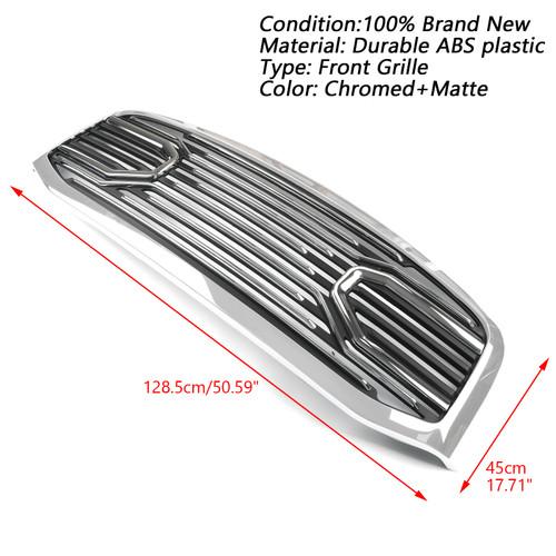 Big Horn Chrome Packaged Grille + Shell For Doge RAM 2500 3500 09-10 RAM 1500 06-08 Chrome