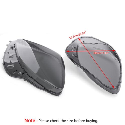 Smoke Headlight Lens Replacement Cover & Black Gaskets Kit For C6 Corvette 05-13 Gray