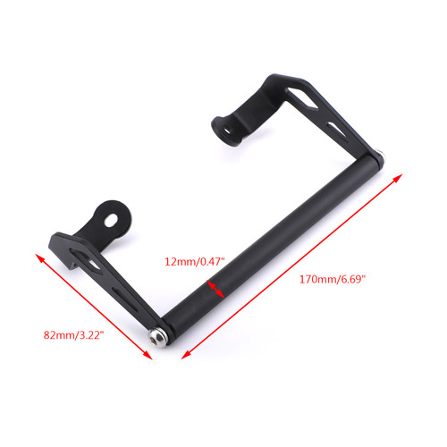 Phone Holder Navigation Bracket For Ducati Multistrada 950 1200 1200S 1200 Enduro 15-17 Black