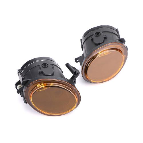 2X Lens Bumper Fog Lights Lamps Kit For BMW E39 M5 99-03 E46 3-Series Sedan E46 M3 Coupe 01-05 Yellow