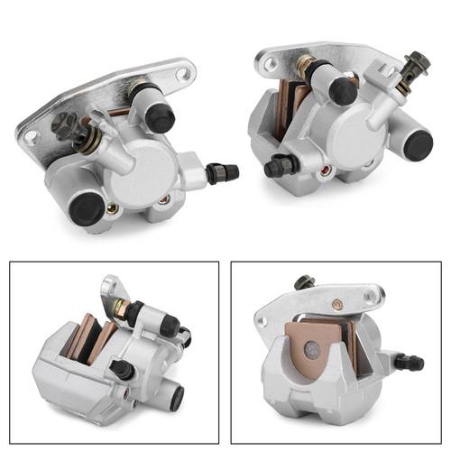 Front Brake Caliper Set For Kawasaki 43041-S014 43041-S015 KSF400 KFX 400 03-06 Silver