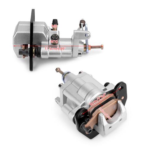 Rear Brake Caliper Assembly For Yamaha 5UG-2580V-00 5UG-2580V-01 5UG-2580V-02 YXR45F 06-09 YXR45FSE 08 YXR660FA YXR660FSE 06-07 Silver