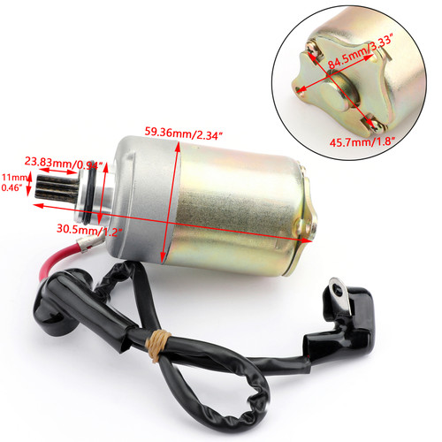 Electric Starter WITH WIRE For Polaris 0454945 0454488 RZR 170 UTV 09-17 Silver