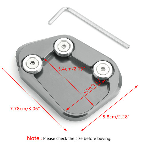 Kickstand Side Stand Extension Enlarger Pad For Honda CBR250RR 17-18 Titanium