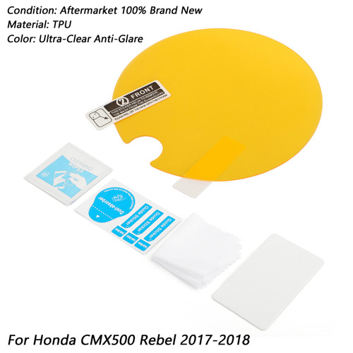 Cluster Scratch Protection Film Screen Protector For Honda CMX500 Rebel 17-18 Clear