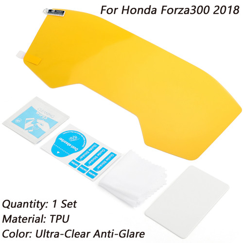 Anti-Glare Ultra Clear Dashboard Screen Protectors For Honda Forza300 2018 Clear