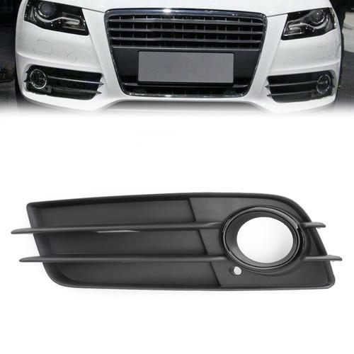 Left Front S-Line Bumper Fog Light Grille For Audi A4 S-LINE S4 08-12 Black