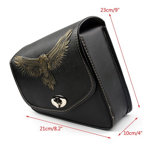 Leather Left side Saddlebag Saddle Bag For Davidson Sportster XL 883 XL 1200
