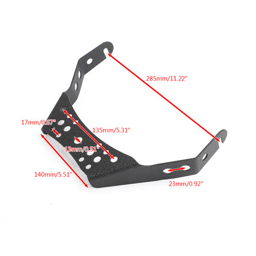 "Universal ATV 10"" Light Handlebar Bracket Mount for Honda TRX450R Yamaha YFZ450 Black"
