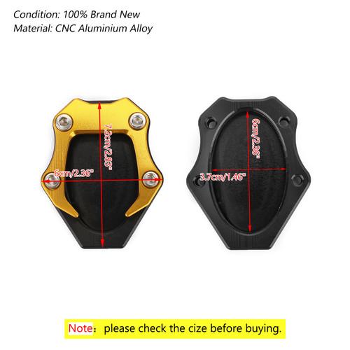 CNC Kickstand Side Stand Plate Extension Pad For Kawasaki Ninja 400 250 18 Gold
