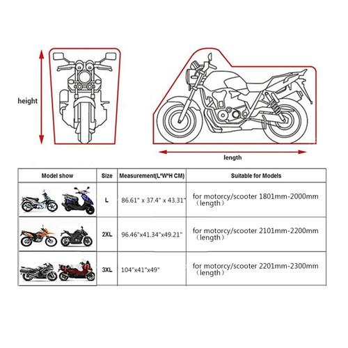 "XXL 96"" Motorcycle Rain Cover Waterproof UV For Dyna Electra Glide Black Orange"