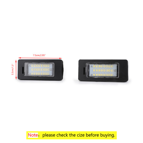 LED License Plate Number Lights For BMW 1 Series E82 E88 F20 F21 08-14 3 Series E90 E91 E92 E93 F30 07-13