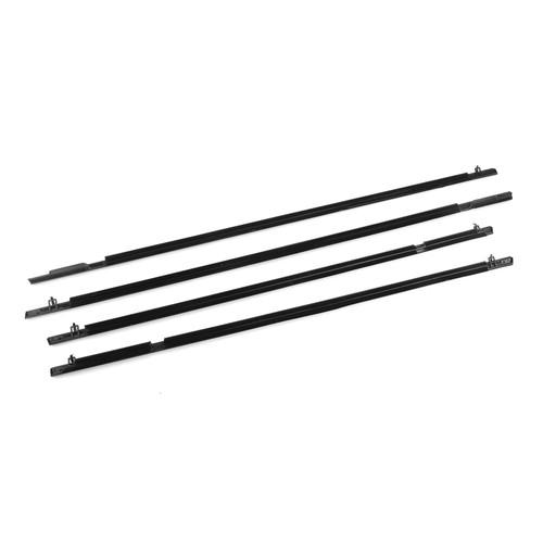 Weather Strip Outside Window Moulding Trim Belt For Honda Civic 06-11 Black
