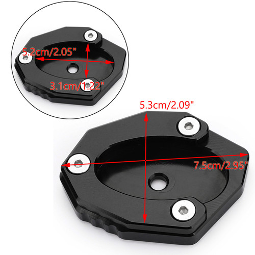 Side Stand Kickstand Pad Extension Plate For KAWASAKI Z900RS CAFE 18-19 Versys 1000 17-18 Black