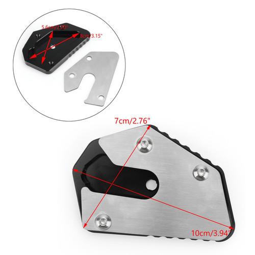 CNC Side Stand Kickstand Pad Extension Plate For SUZUKI V-STROM 650 DL650 12-19 650 XT 17-19 Black
