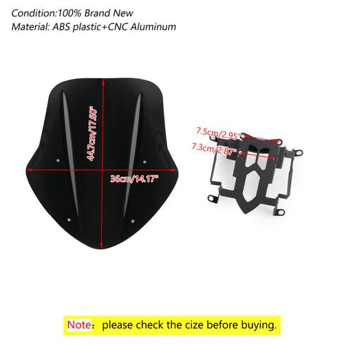 ABS Plastic Windshield Windscreen For Ducati Diavel 14-18 Black